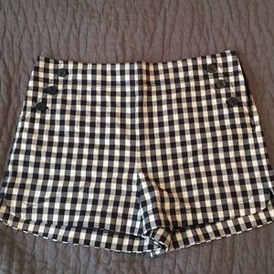 Checkers trouser shorts